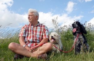 man-and-dogs